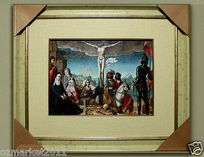 Catholic Church Portrait Jesus Cross Christian Blessed Cloth Frame Decoration M