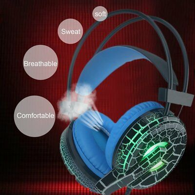 USB 3.5mm Surround Stereo Gaming Headset Headband Headphone with Mic LOT IL