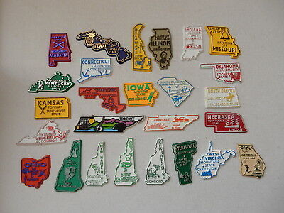 One Selected Rubber Souvenir Fridge Magnet from USA Selected State