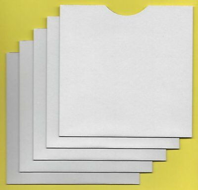 CD/DVD CARD MASTER BAG PROTECTIVE SLEEVES - thumb cut style - (pack of 100)