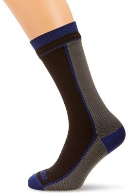(Large, Black/Grey) - Sealskinz Unisex Mid-Length Sea Eagle Socks