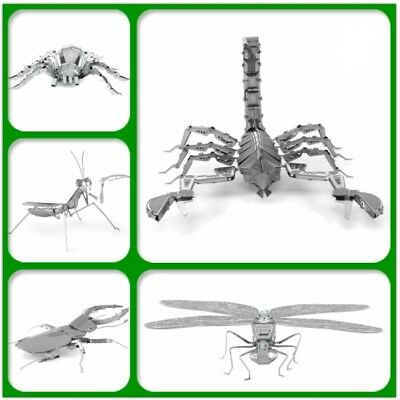 3D Metal Model Puzzle Kits Insects DIY Kids Toys Gift Laser Cut Jigsaw NEW 2017