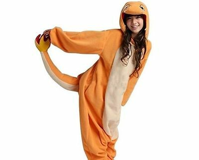 Unisex Adult Animal Onesie Pokemon Charmander Kigurumi Cosplay Costume Pajamas