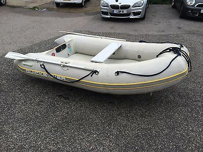 Mercury Quicksilver 270 Air Deck Dinghy 2.7 Tender with Oars