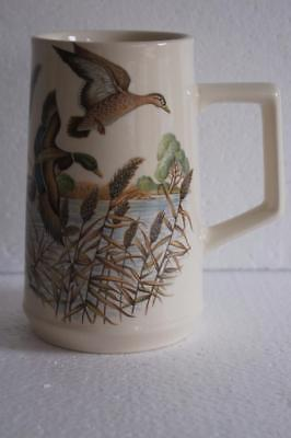 Vintage Holkham Pottery Flying Ducks Tall Mug.