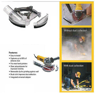 Dust Shroud Kit Dry Grinding Dust Cover for 4 Inch 5 Inch Angle Grinder Power