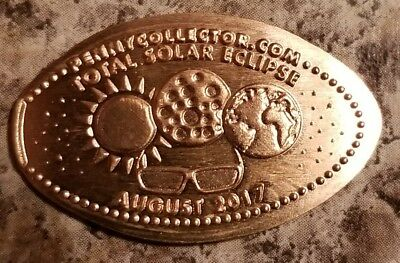 Copper Elongated Pressed Penny Total Solar Eclipse August 2017 Sun Moon Glasses