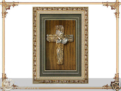 Catholic Church Portrait Jesus Cross Christian Blessed Resin Relief Photo Frame