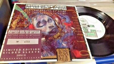 "SIOUXSIE AND THE BANSHEES - Rare 7"" THE LAST BEAT OF MY HEART -GILDED SLEEVE"