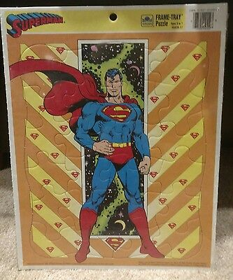 Superman frame tray puzzle 1989 Sealed