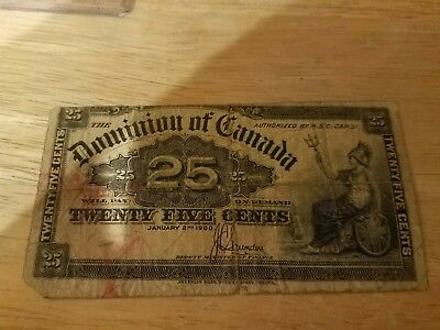 Canada-Dominion of Canada 25 Cents Banknote 1900