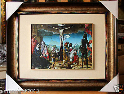 Catholic Church Portrait Jesus Cross Christian Blessed Cloth Frame Decoration N