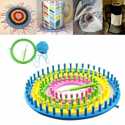 6Pcs Plastic Round Circle Hat Scarf Sweater Flower Loom Set DIY Wool Knit Tool