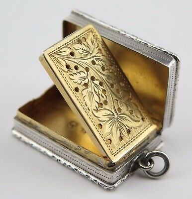 Silver vinaigrette Edward Smith, Birmingham 1840