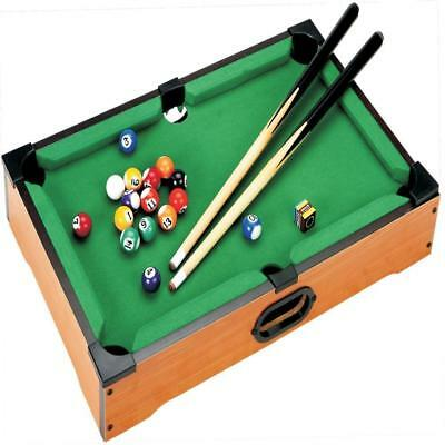 Mini Table Top Pool Snooker Set Childrens Cue Balls Toy Snooker Game Xmas Gift