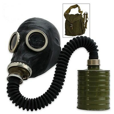 Russian Military Gas Mask, SCHM-41M, w/ Hose Unissued  NBC Sealed Filter and Bag