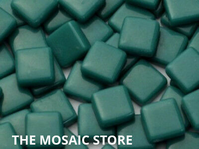 Teal Gloss Glass Tiles 1cm - Mosaic Tiles Art & Craft Supplies