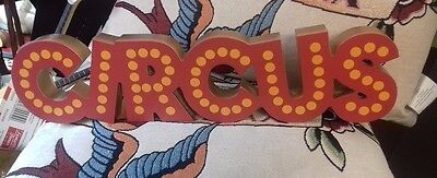 painted reproduction wooden circus sign-carnival-salvage-quirky-tattoo'd lady