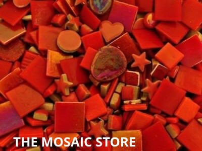 Mixed Red Tile Colour Packs - Mosaic Art & Craft Supplies