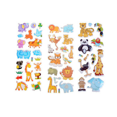 Kids Toys Cartoon Cute Animals Zoo 3D Stickers Girls Boys PVC Stickers gi