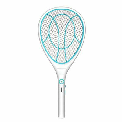 Electric Mosquito Fly Bugs Swatter Zapper Bat Racket, USB Rechargeable(Blue)