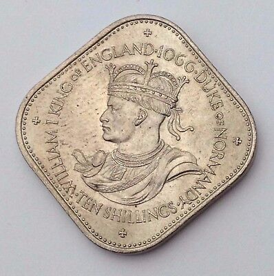 Dated : 1966 - Bailiwick of Guernsey - 10 Shilling Coin - 1066-1966