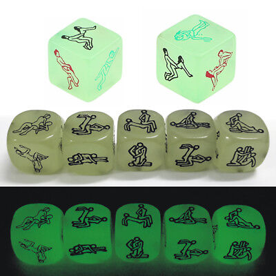 6 Sided Sex Funny Noctilucent Adult Dice Humour Gambling Romance Party Craps