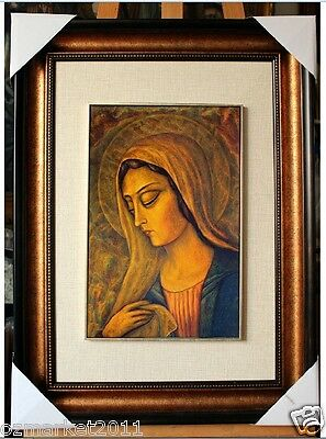 Catholic Church Portrait Jesus Cross Christian Blessed Frame Decoration Gift P