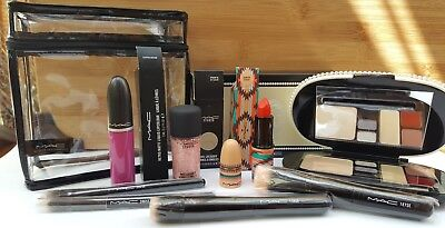 MAC Cosmetics Lot Keepsakes Kit, Lipstick, Lipgloss, Nail Lacquer, Brushes