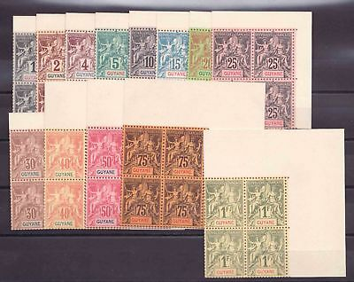 Guyana Serie Groups Series supplements Exposition of 1900 in block of 4 Edge of