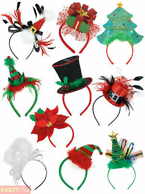 Adults Christmas Mini Hat Headband Ladies Fancy Dress Costume Accessory Xmas