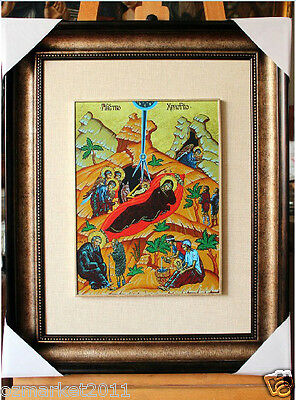 Catholic Church Portrait Jesus Cross Christian Blessed Cloth Frame Pretty Gift D