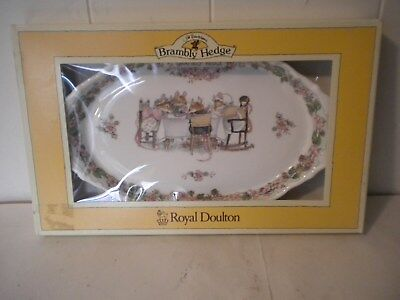 "Brambly Hedge Gift Collection Oval Tray 6"" x 10"" - Royal Dalton - New In Box!"