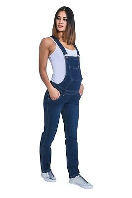 Maternity Bib Overalls - Darkwash Denim Pregnancy jean