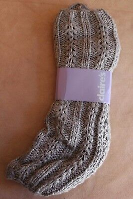 Grey Legwarmers New With Tags Free Post