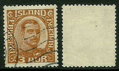 Iceland 109 Used Stamp - King Christian X (b)