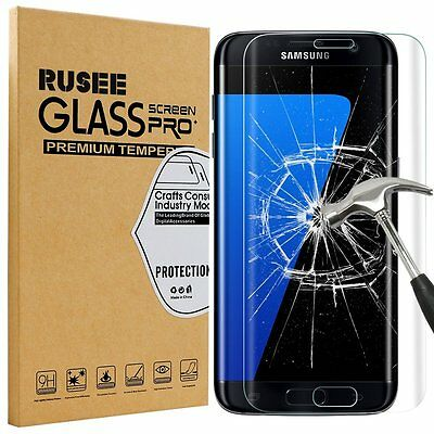 Rusee Premium Samsung Galaxy S7 Edge Curved Tempered Glass Screen Protector 9H