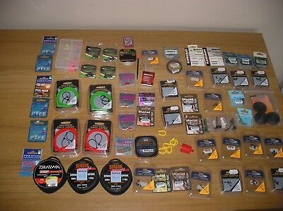 Match Fishing End Tackle Job lot - Hooks Line Bundle Bushes Map Preston Drennan