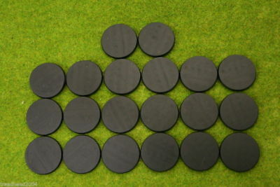 40mm Round Plastic Bases, Unslotted,