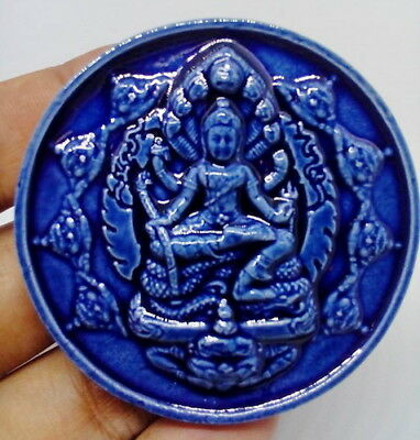"Thai Amulet Jatukam Version ""Rum-Rue-Kum-Dueng"" Year 2007.(Coated Blue tile)"
