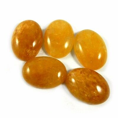 5Pcs Oval Yellow Aventurine Wholesale lot Exclusive Jewelry Gemstone MC00311