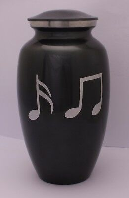 Adult Cremation Urn for Ashes Large Funeral Memorial Ash container Grey Charcoal