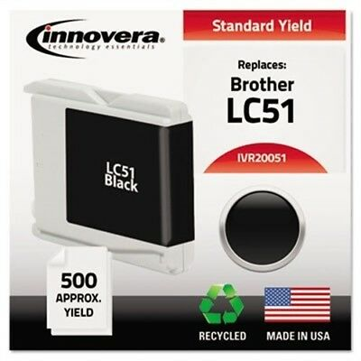 Remanufactured LC51BK Ink, 500 Page-Yield, Black - x 2
