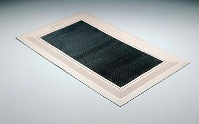 Bowls Sports Heavy Duty Black Rubber Ribbed White Edged Border Delivery Mat