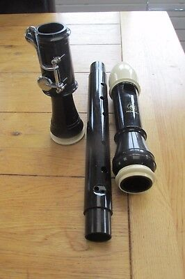 JHS Hornby Tenor Recorder Model 301T Three Piece In Good Order - USED (REF 86)