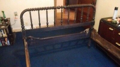 Early 1800s jenny lind spindle bed. nice headboard.& footboard both sides double
