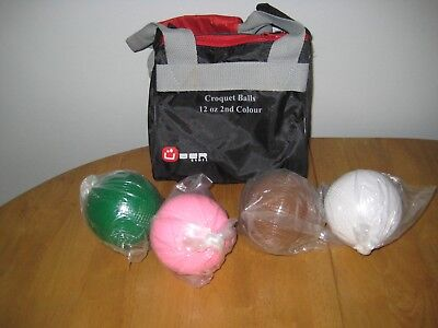 Uber croquet balls, second colours, never used, 12 oz size.