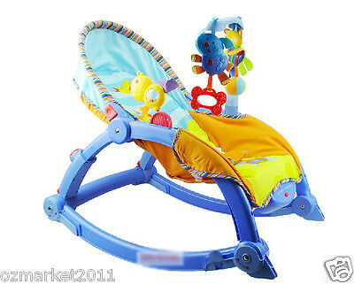 Fashion Blue Security Multi-Function Baby Swing Chair/Rocking Chair BB