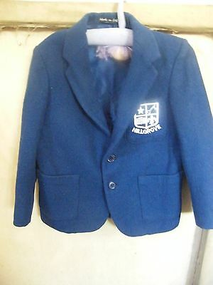 "Vintage Jonelle Boys Wool School Blazer  Hillgrove Badge 26"" Size 4"