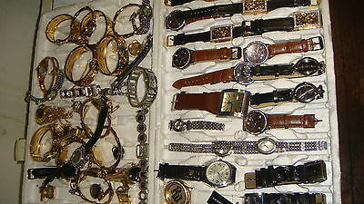 Trade Only Job Lot Of 55 X  Mixed Names  Watches 100% Gen <<,//